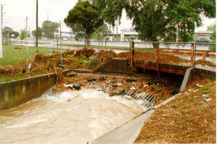 Mile Creek West at Dandenong Road. Source: Melbourne Water